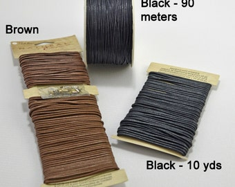 Waxed cotton cord - 2 colors - #1687