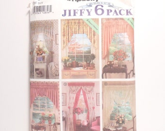 Vintage Simplicity Sewing Pattern, Curtain Pattern, Home Decor, Window Treatment, Valances, Vintage Sewing