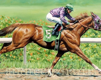 Copper Chestnut Race Horse California Chrome