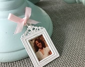 Bouquet Charm - White Vintage Inspired Frame