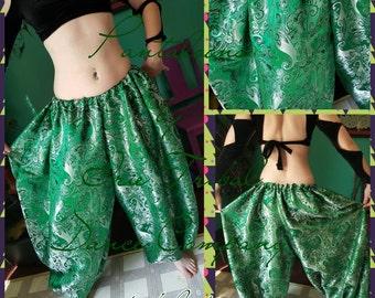 Emerald Green Paisley Brocade 4yd Pantaloons