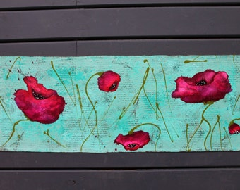 CUSTOM - Spring Poppies Runner Floor Covering
