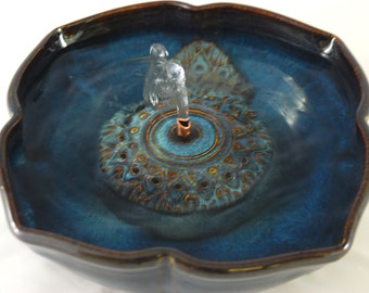 "Cat Drinking Fountain - Pet Fountain - Indoor Fountain - 10.5 Inch Diameter ""Arabesque"""