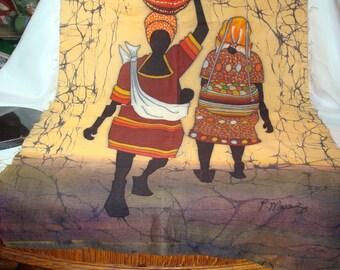 Vintage African Batik by Artist P. Mway Mwacy?