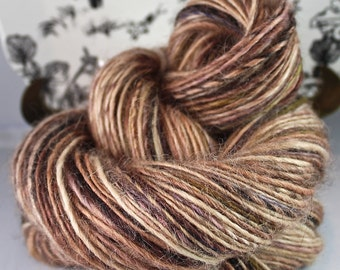 Handspun Yarn Gently Thick and Thin Single Wensleydale 'Castle Rock'