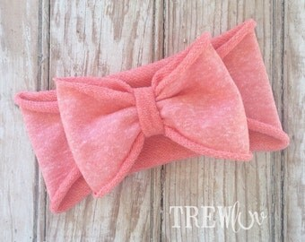 Pink Terry bow band