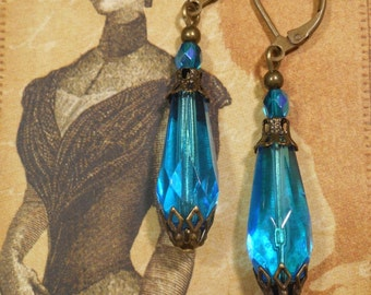 Lady Sybil Earrings - Downton Abbey Jewelry - Edwardian Earrings - Spring Jewelry - Neo Victorian Earrings - Womens Jewelry - Gift for Her