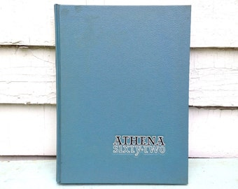 Vintage 1962 Athena Yearbook / Ohio University / Athens