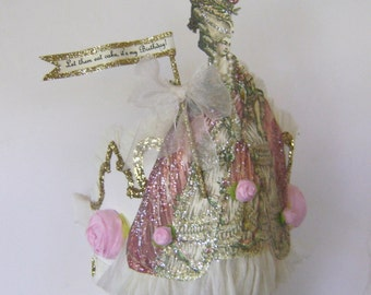 Marie Antoinette Birthday Crown - Let them eat cake its my Birthday or anything you want - customize
