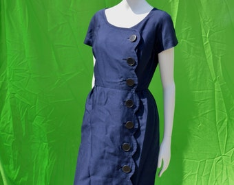 vintage 60's IRA RENTER cotton shirt dress dress Mad Men style mod mid century design sM sexy dress by thekaliman
