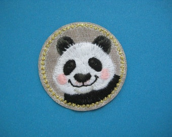 Cute~ Iron-on Embroidered Patch Panda 1.75 inch