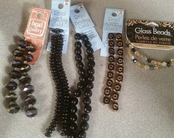 Black and Gold crystals and beads