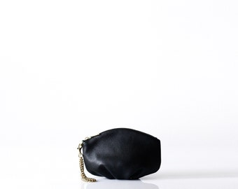 Small leather purse OPELLE m Pochette leather clutch wristlet