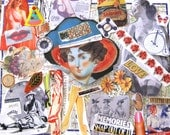 Ephemera Pack No 10.  Images for collages, decoupage, scrapbooking, whatever. Tons of great stuff. Gift for artists.
