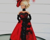 Red Victorian dress for Barbie