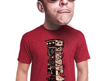 hawaii tiki t-shirt hawaiian tiki man island life beach tropical beach tshirt mens guys lowbrow tiki t-shirt  for teens college student