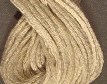 Valdani, 6 Strand Cotton Floss, P4, Aged White Light, Embroidery Floss, Variegated Floss, Hand Dyed Floss, Wool Applique, Punch Needle
