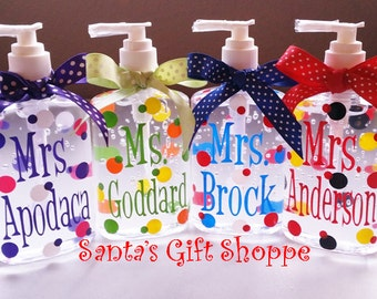 Personalized Hand Sanitizer, Teacher Gift, Coach, Nurse, Birthday Gift, Adults, Teens, Stocking Stuffer,Valentine's Day Gift