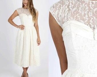 ON SALE Lace Wedding Dress Bridesmaids Dress Party Dress Prom Dress Lace Dress Maxi Dress Vintage 80s Sheer Floral Iridescent Midi Maxi S