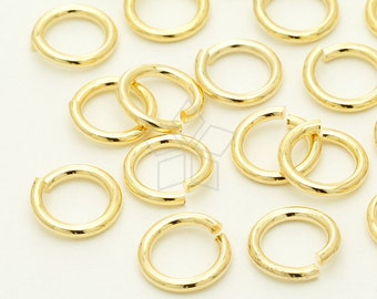 BS-123-GD / 10 Grams - 10mm Outside Diameter Extra Large Jump Rings, 16K Gold Plated / 14 Gauge(1.5mm) Wire