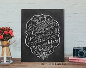 Irish Blessing - Hand Lettered Wooden  - Chalkboard Art - May Joy and Peace Surround You Blessing  Word Art Wall Decor Wood Sign