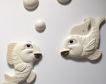 1950s Set of Chalkware Fish
