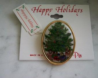 Christmas Holiday Tree Brooch Pin
