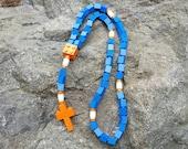 Lego Rosary - The Original Catholic Lego Rosary - Blue and Orange Boys First Communion Gift