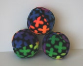 Rainbow Flower Fleece Squeaky Dog Ball toy small