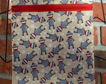 Handmade - Sock Monkey  - Sling Bag, Cross Body Bag, Hipster, Travel Bag - Hands free