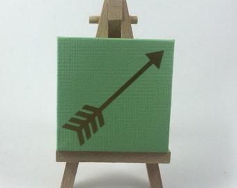 Gold Arrow Mini Canvas