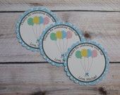 Balloon Party Custom Favor Stickers - Up, Up, and Away Collection from Tea Party Designs