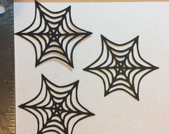 3 Spider Webs die cuts