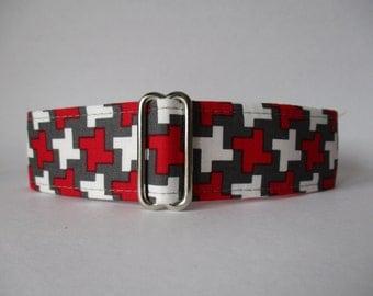 Dog Collars Canada, Red Dog Collar, Wide Dog Collar, Large Dog Collar, Side Release Dog Collar, 1.5 Inch Dog Collar, Made in Canada