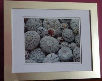 Crochet stones printing picture,Fine Art Photography,crochet decor,Home Decor Wall Artnumber 1