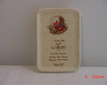 Vintage Scissors Ceramic Wall Pocket  16 - 447