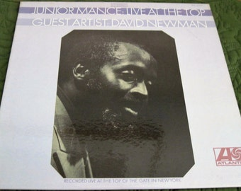 Vintage Junior Mance & David Newman Live at the Top Of The Gate In New York Atlantic Records SD 1521 Circa 1969