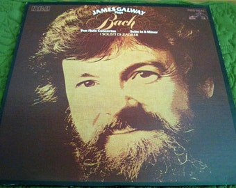 Vintage RCA ARL1-2907 Stereo Vinyl LP Record Album James Galway Plays Bach Two Flute Concertos Suite In B Minor 1978