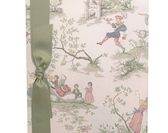 Tight Bound Baby Memory Book - Topsy Turvy Toile
