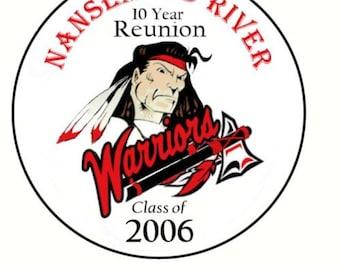 CUSTOM HIGHSCHOOL CIRCLES for Kayla - Highschool Reunion stickers Download Printable