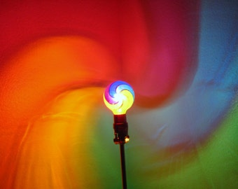 Rainbow Painted MoodLight BulbRainbow BedroomNight - Red light bulb in bedroom
