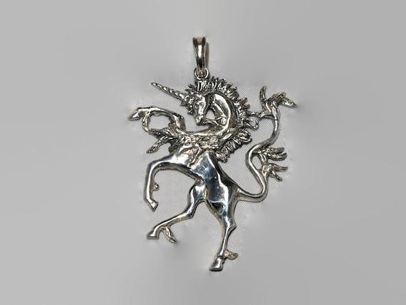 Renaissance Unicorn Pendant in Sterling Silver