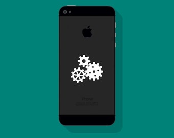 GEARS VINYL DECAL, Steampunk Decal, iPhone Decal, Vinyl Sticker
