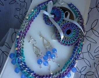 Beautiful Bellydancer Zill and Jewelry Set