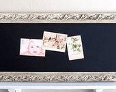Kitchen CHALKBOARD Home Decor Narrow Rectangle Ivory White Bulletin Board Organizer Mud Room Magnetic Chalk Board Old World Farmhouse Decor