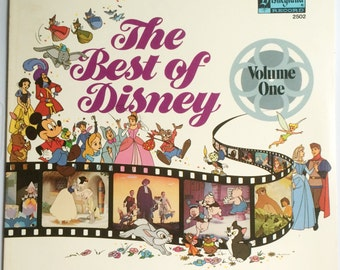 The BEST OF DISNEY Volume One Lp 1978 Original Vinyl Record Album