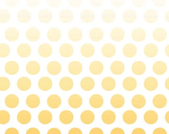 1 Yard Riley Blake Ombre Dots in Yellow