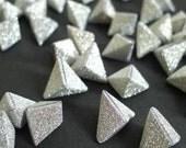 50 Silver Shimmer - Magical Fairy Dust Korean Origami Lucky Stars a.k.a. Origami Crane Eggs