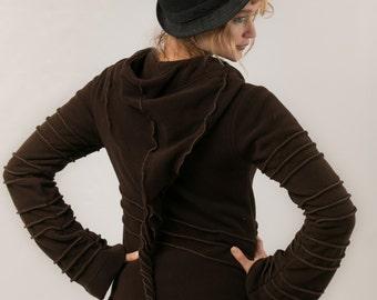 Pixie  Fleece  Jacket - Fairy Hippie Hoodie -Jacket - Party Tribal Coat - Perfect festival Coat -Travel Gear - women's clothing