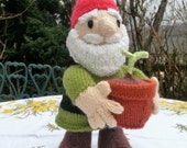 Handknitted Garden Gnome,Alan Dart pattern